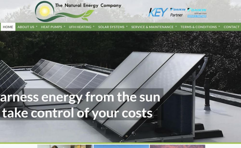 website designed for The Natural Energy Company