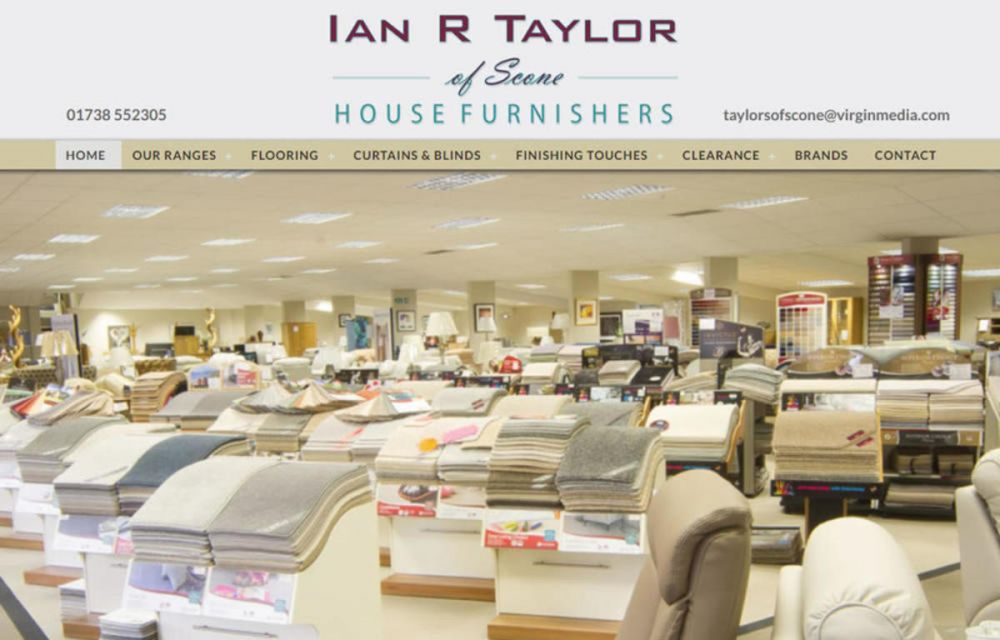 website designed for Ian R Taylor of Scone