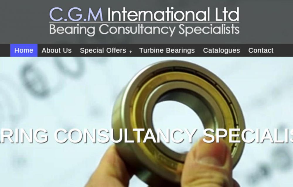 website designed for CGM International