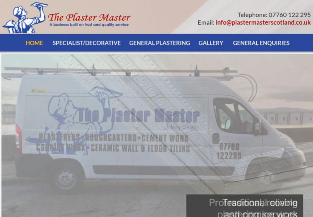 website designed for Plaster Master