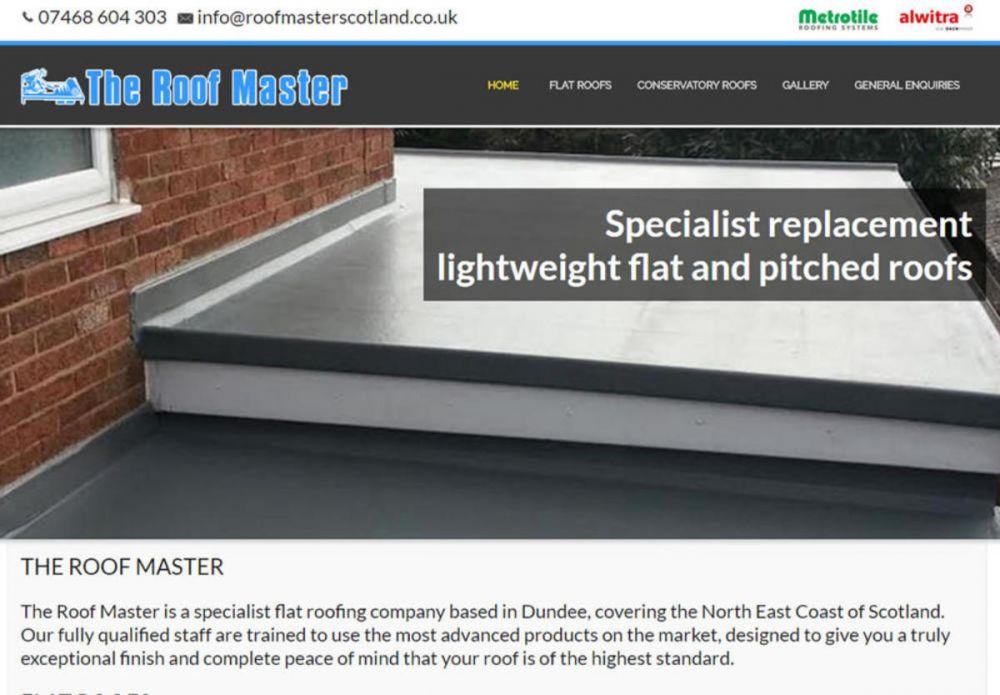 website designed for Roof Master