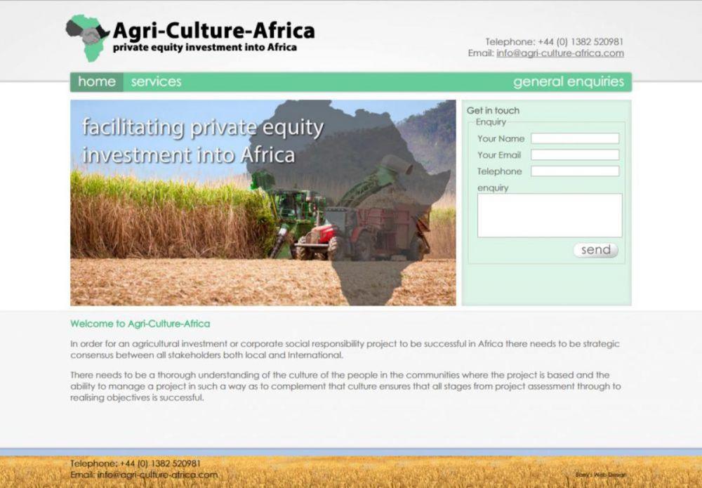 website designed for Agri-Culture-Africa