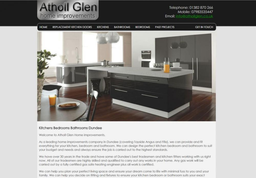 website designed for Atholl Glen Home Improvements