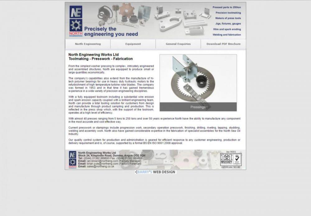 website designed for North Engineering