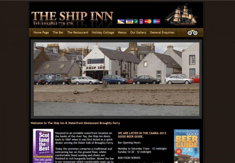 website designed for The Ship Inn