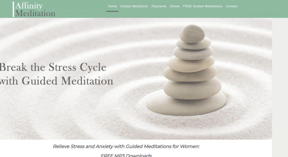 website designed for Affinity Meditation