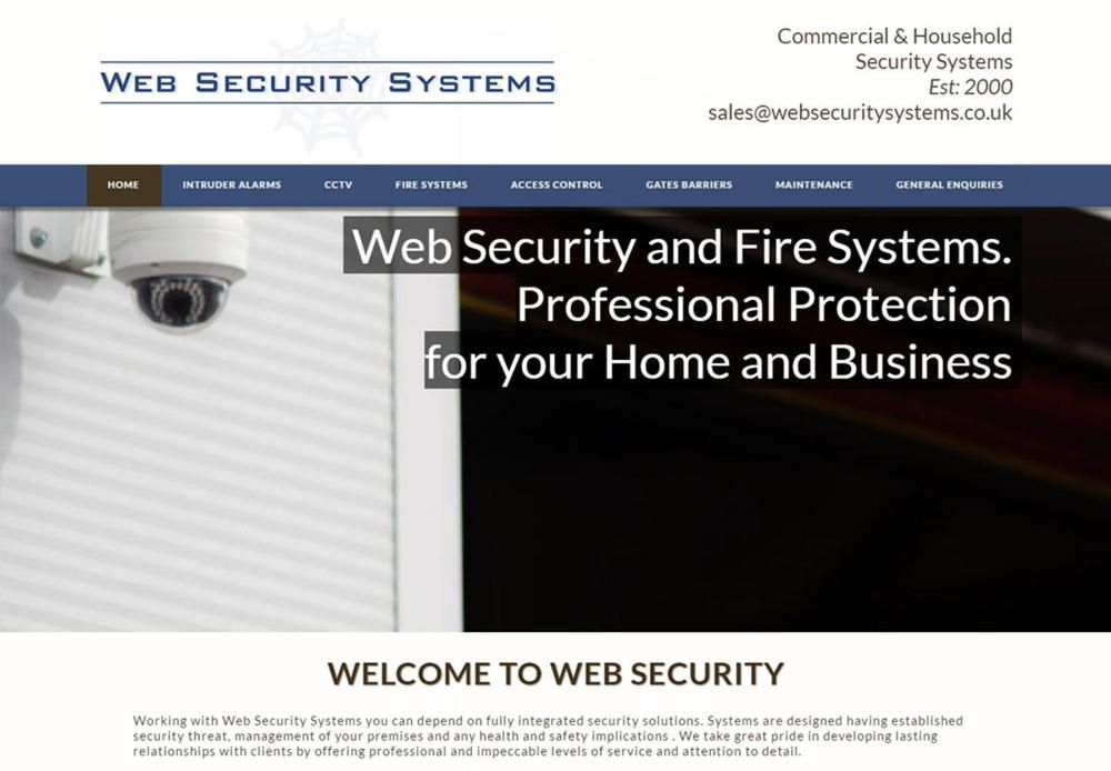 website designed for Web Security Systems
