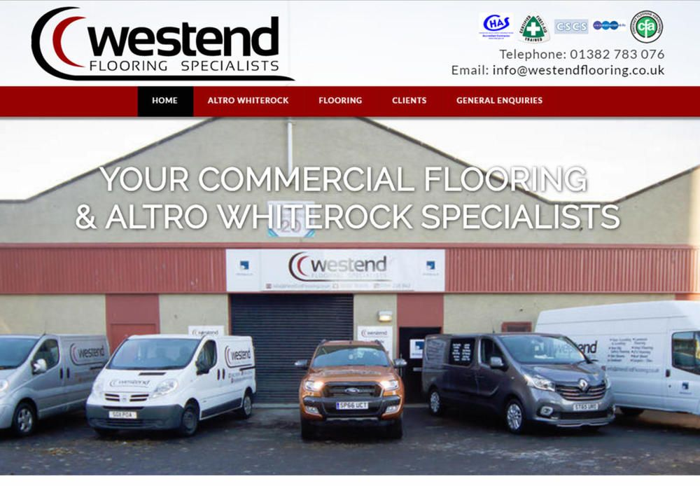 website designed for Westend Flooring & Altro Whiterock