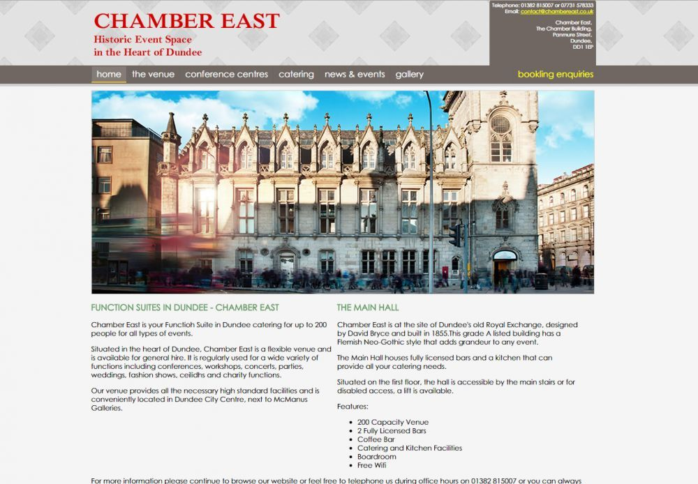 website designed for Chamber East