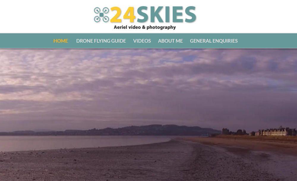 website designed for 24 Skies