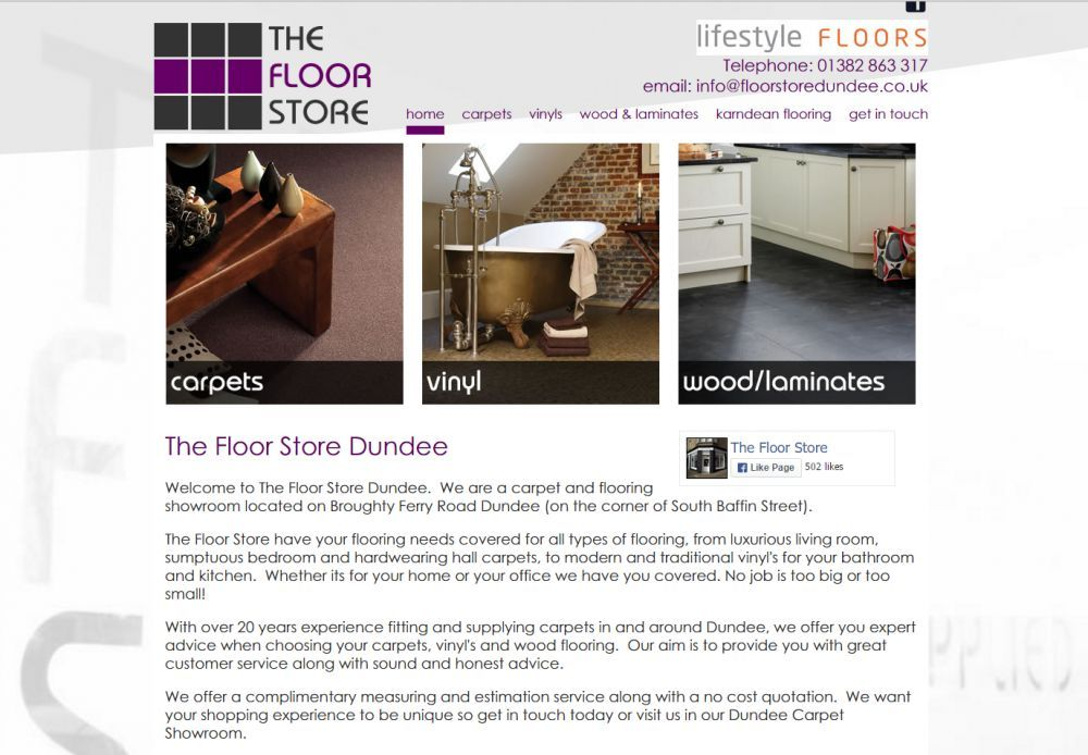 website designed for Floor Store Dundee