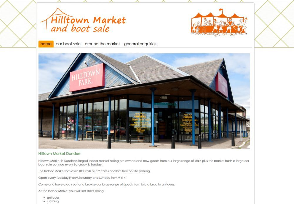 website designed for Hilltown Market