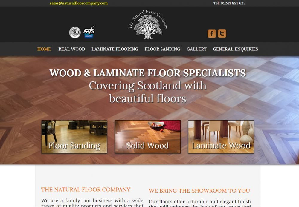 website designed for natural floor company