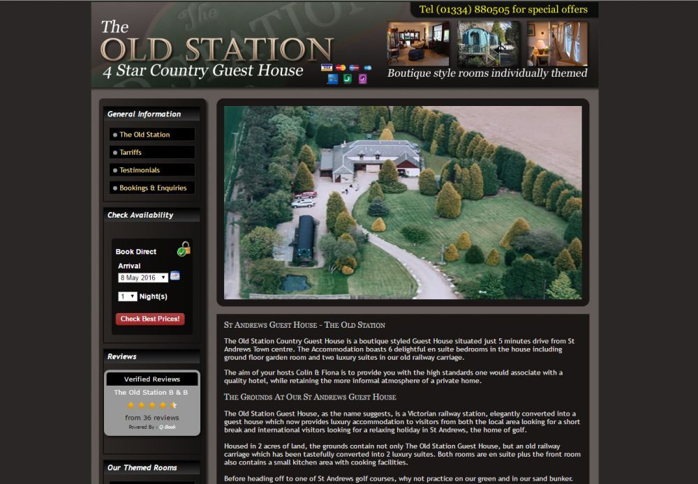 website designed for The Old Station
