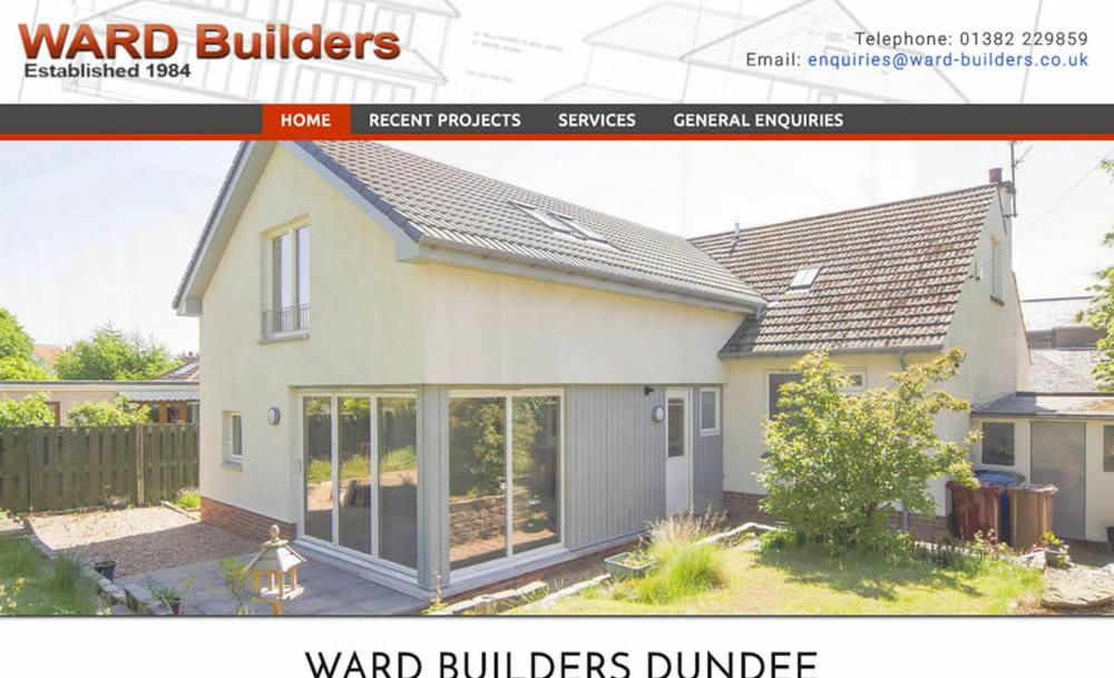 website designed for Ward Builders & Joiners