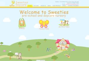 website designed for Sweeties Daycare