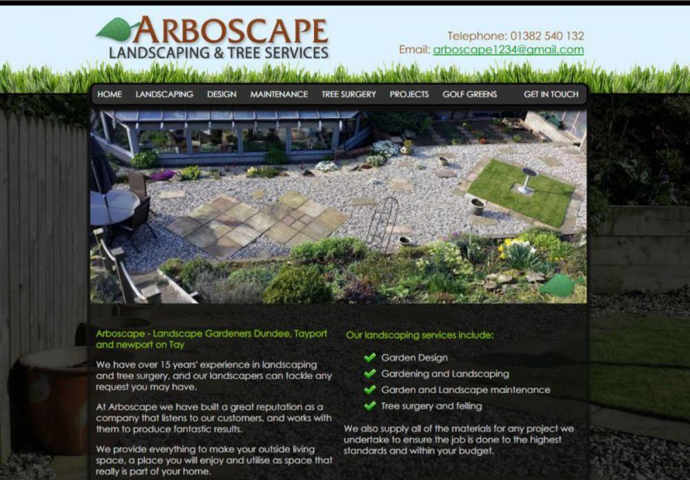 website designed for Arboscape | ArboScape Dundee Landscape Gardeners
