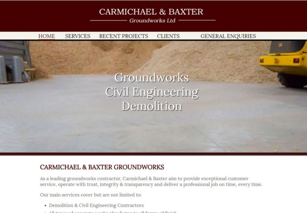 website designed for CARMICHAEL and BAXTER