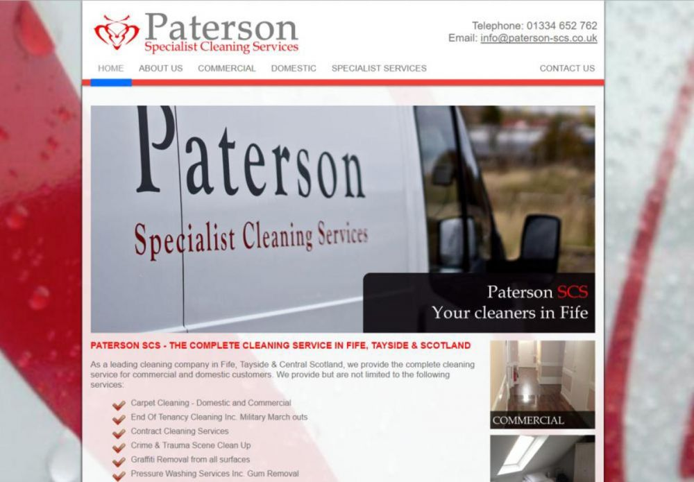 website designed for Paterson SCS
