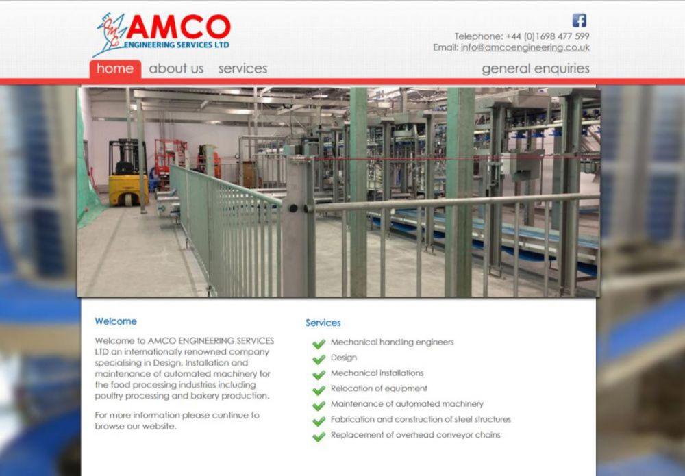 website designed for AMCO Engineering