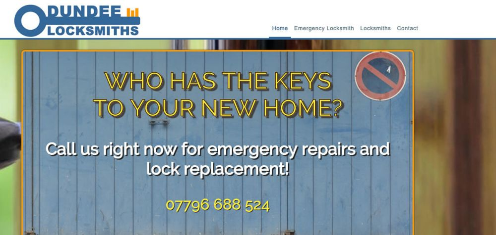 website designed for Dundee Locksmiths | Dundee Locksmiths emergency locksmiths dundee