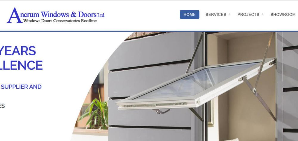 website designed for Ancrum Windows and Doors