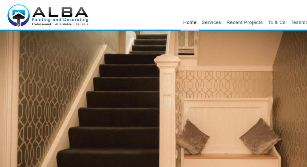 website designed for ALBA Painters and Decorators | Painters and decorators dundee