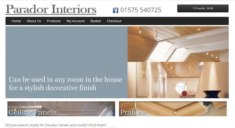 website designed for Parador Interior | Parador Interior