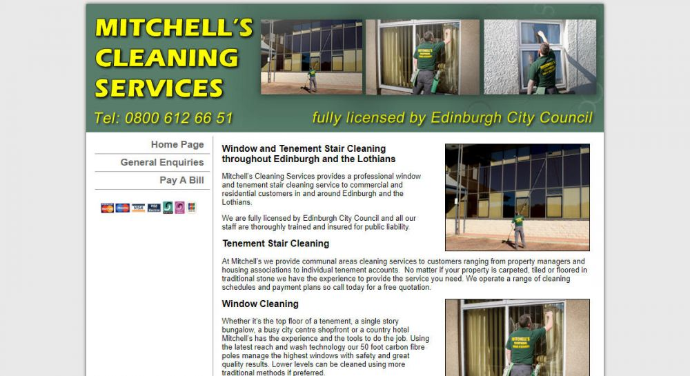 website designed for Mitchell Clean | Mitchell Clean