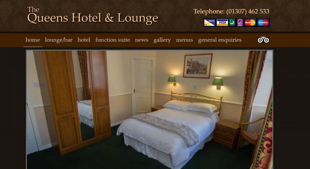 website designed for Queens Hotel Forfar