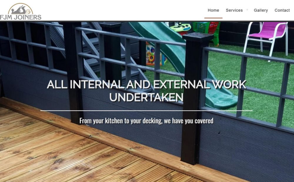 website designed for FJM Joiners Ltd | Joinery companies in Dundee