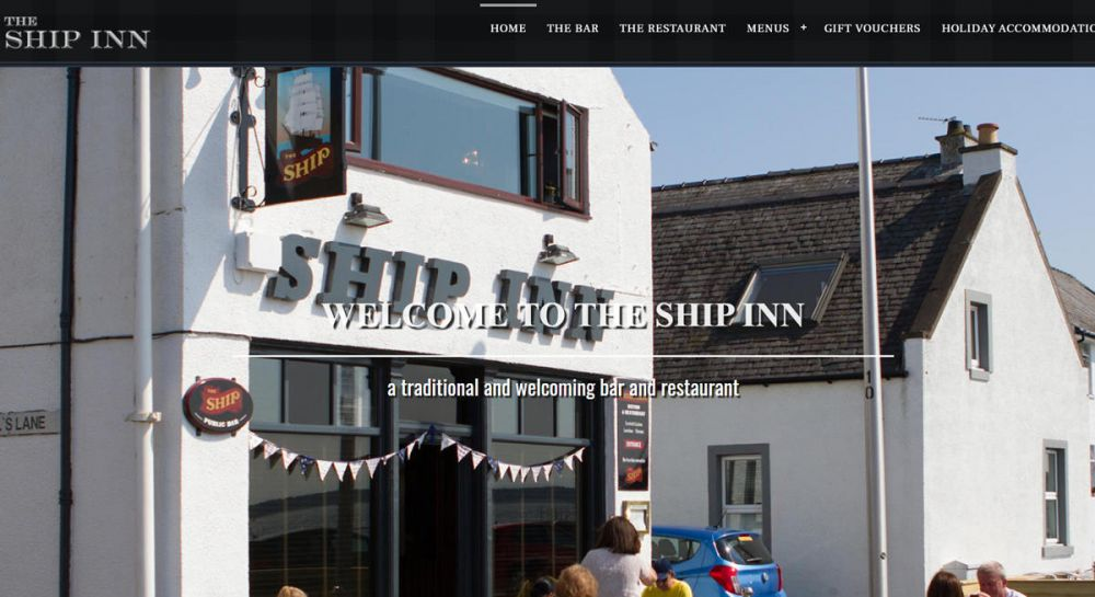 website designed for The Ship Inn | The Ship Inn Broughty Ferry