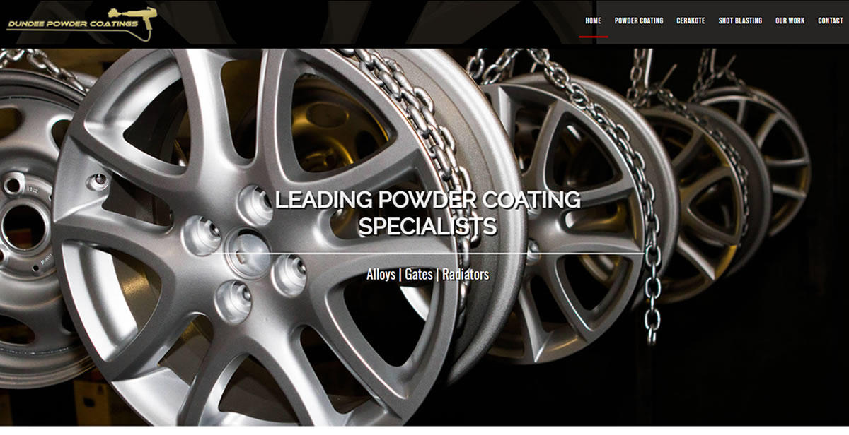 website designed for Dundee Powder Coatings | Dundee Powder Coatings