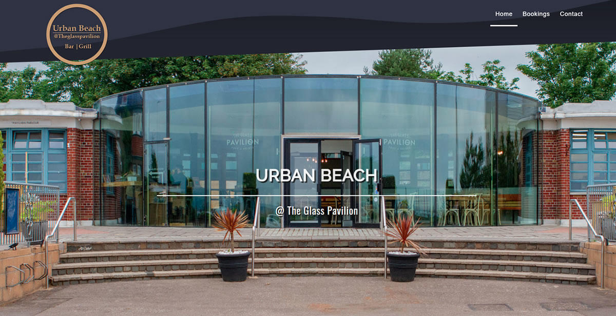 website designed for Urban-Beach-Glass-Pavilion