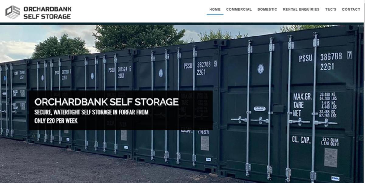 website designed for Orchardbank-Self-Storage