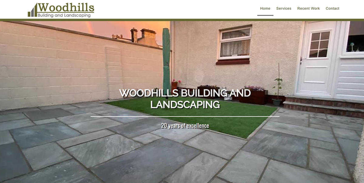 website designed for Woodhills-Building-and-Landscaping