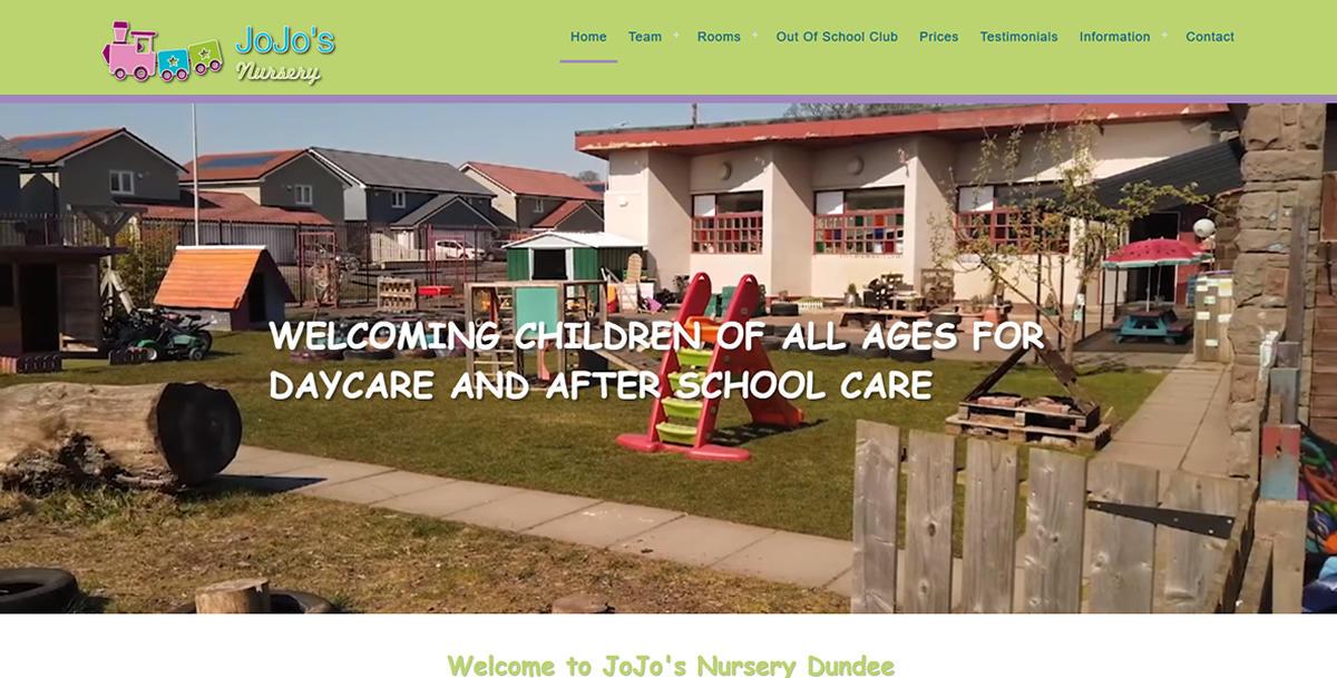 website designed for Jojos-Nursery