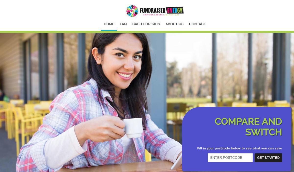 website designed for Fundraiser Energy | Energy Comparison Dundee