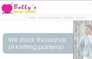 website designed for Woolcraft Dundee