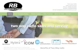 website designed for RB Communications