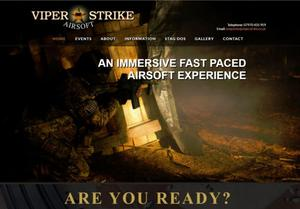 website designed for Viperstrike Airsoft