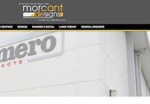 website designed for Morcant Designs Ltd