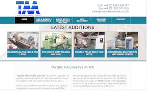 website designed for Tayside Machinery Ltd