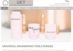 website designed for Universal Engineering Tools