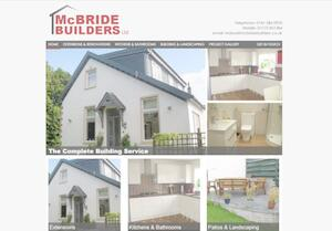 website designed for McBride Builders