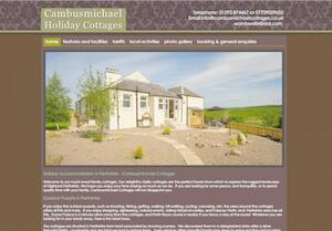 website designed for Cambusmichael Cottages