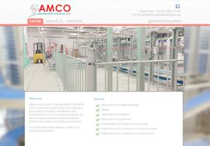 website designed for AMCO Engineering