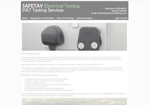 website designed for Safetay Electrical Testing