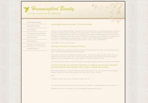 website designed for Hummingbird Beauty