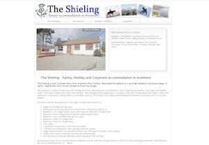 website designed for The Shieling